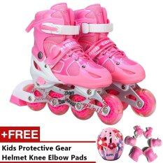 Mc Pro Adjustable Inline Skate Girls And Boys (pink) - S By Crc Mall.