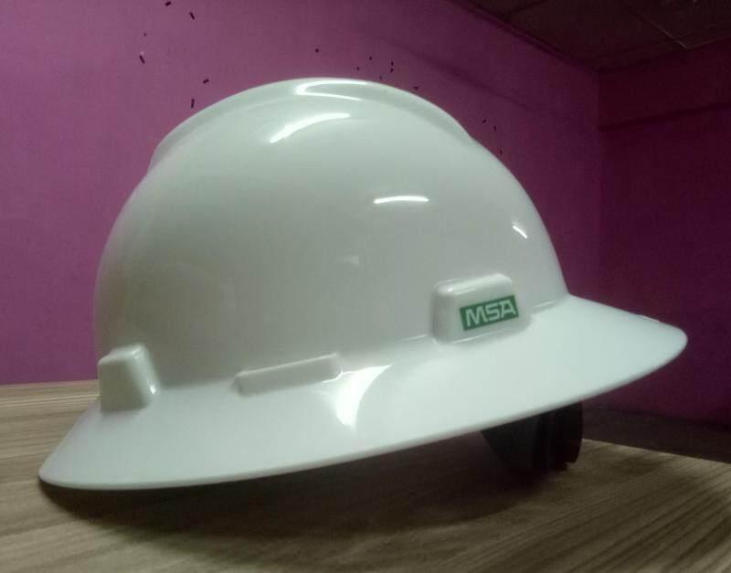 MSA Safety Helmet - Full Brim White