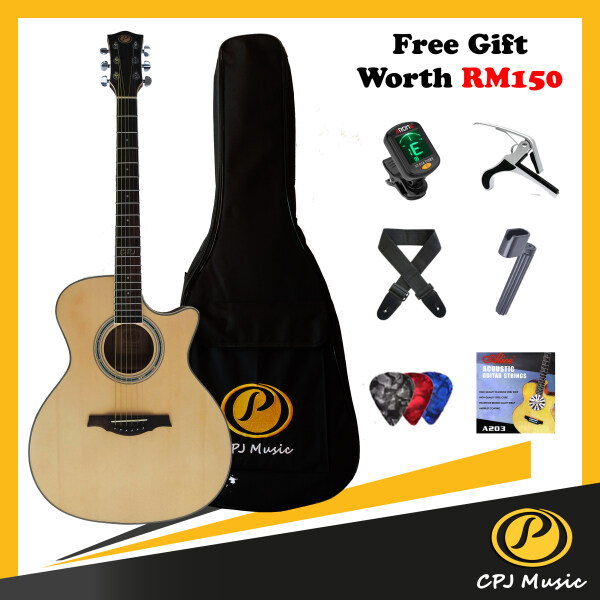 CPJ Acoustic Guitar CD50CM 41  Top Spruce Side Red Pine Free Bag & 1 Year Warranty Plus FREE GIFT Malaysia