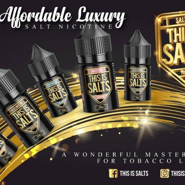 This Is Salts Salt 30ML 35/50 ( Honeydew / Grape / Mango / Strawberry / spearmint / blueberry / apple ) Best For Pod Kit System Vape Perisa Ejuice Eliquid READY STOCK Malaysia