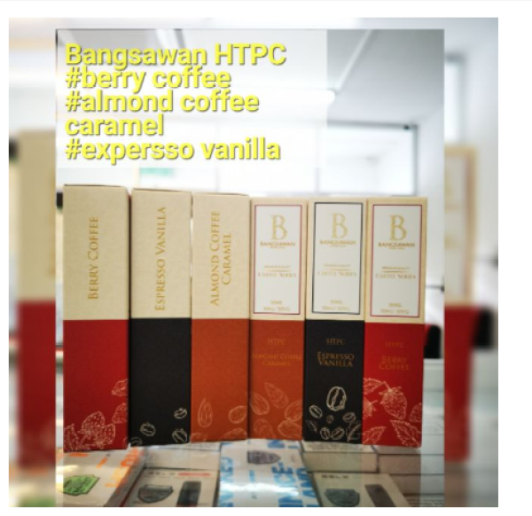 *bsw htpc* bangsawn HTPC 30ml coffee series expresso vanilla, coffee Almond caramel, berry coffee Malaysia
