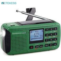 Đài Phát Thanh Sóng Ngắn Retekess HR11S Đài Phát Thanh Sóng Ngắn AM FM Máy Phát Điện Năng Lượng Mặt Trời Có Bluetooth SOS Đèn Pin Âm Thanh Báo Thức Máy Phát Nhạc MP3 Đồng Hồ Báo Thức (Màu Xanh Lá Cây)