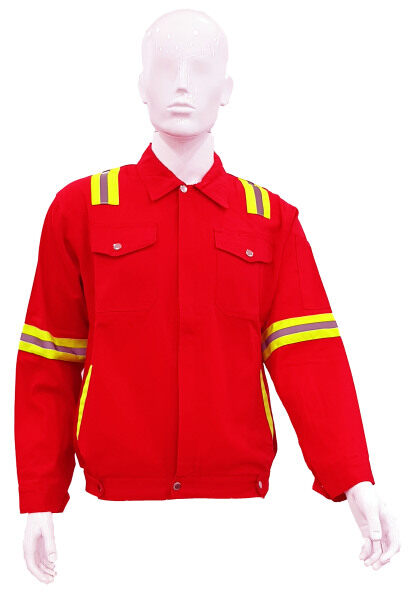 Safety Working Jacket Red Color ****Ready Stock****