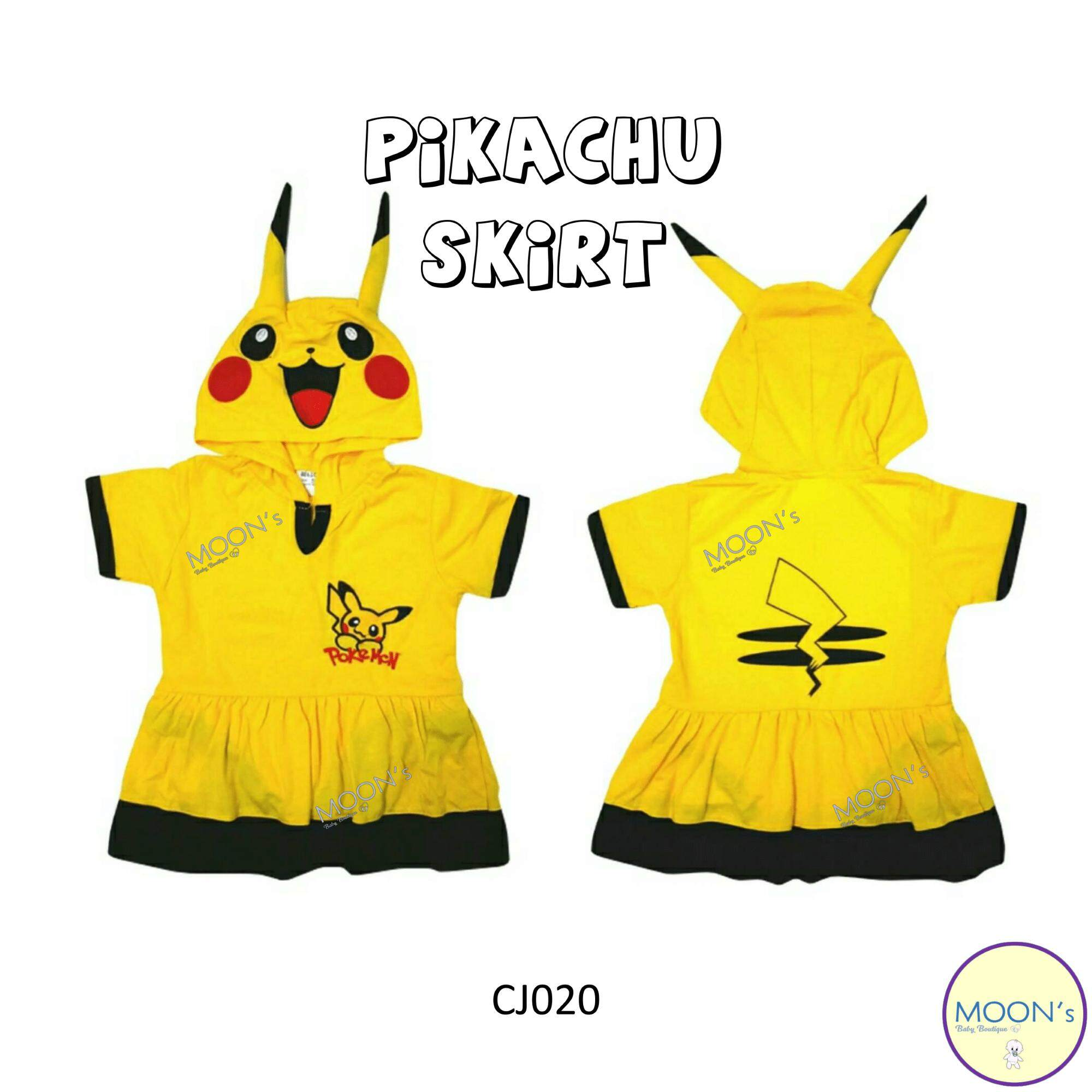 Costume Jumper - Pikachu Skirt By Moons Baby Boutique.