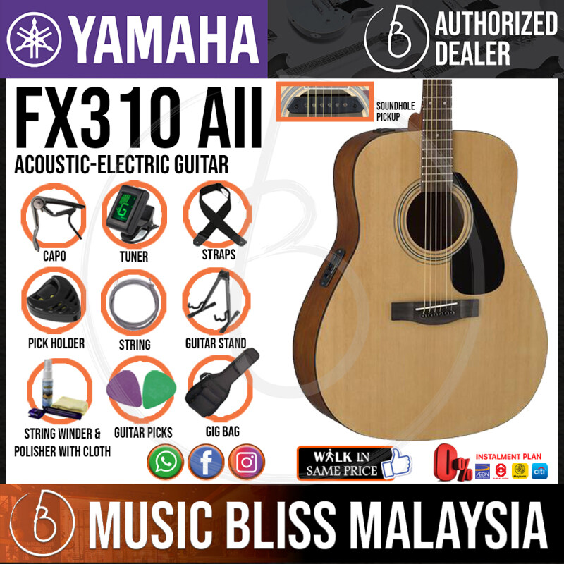Yamaha FX310A II Acoustic-Electric Guitar with Pickup - Natural (FX310AII) Malaysia