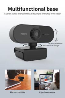 Webcam Lấy Nét Tự Động FHD Cho PC 1080P Tích Hợp Micro Giảm Tiếng Ồn Cuộc Gọi Video Cao Cấp Camera USB Web Cam Cho Máy Tính Xách Tay Máy Tính Để Bàn 4