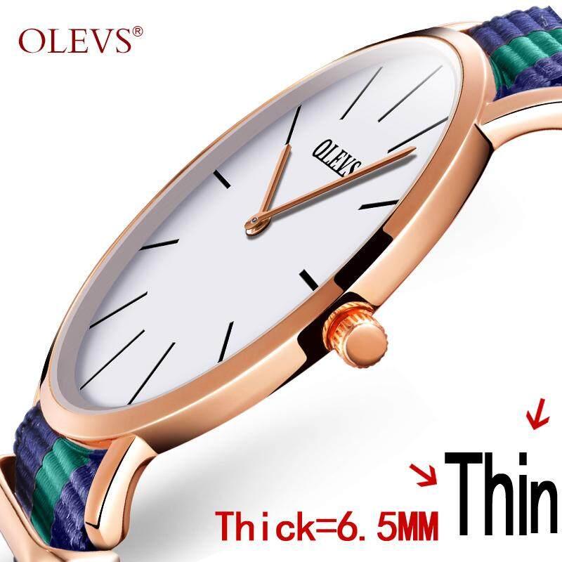 Nơi bán Olevs Mới chính hãng vải Nylon với kiểu dáng đẹp tối giản Đồng hồ nam và nữ siêu mỏng Chống Nước vải Bố Mới với đồng hồ thạch anh cặp đôi bàn