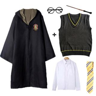 Trang Phục Hóa Trang Harry Potter Halloween Áo Choàng Kính Áo Sơ Mi Cây Đũa Thần Áo Len Trang Phục Unisex Cho Người Lớn Trẻ Em Màu Đen Lớn Từ Người Cao 110 Đến 185Cm Áo Choàng Hóa Trang Gryffindor Slytherin Hermione Granger Ma Thuật thumbnail