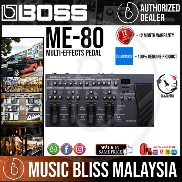 Boss ME-80 Multi-Effects Pedal with Original Adapter (ME80) Malaysia