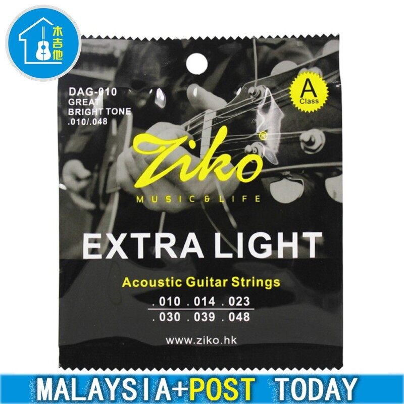 Malaysia ready stock Guitar string 6 Strings Set Ziko Dag Acoustic Guitar Strings Dag-010 Malaysia