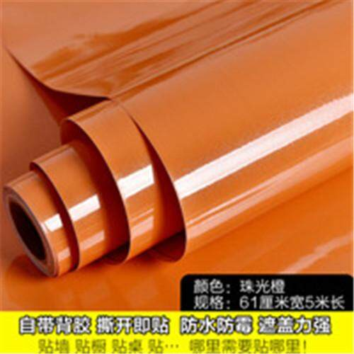 ***2019 HOT***Glossy DIY Decorative Film PVC Self adhesive Wall paper Furniture Renovation Wall Stickers Kitchen Cabinet Waterproof Wallpaper 60cm wide * 5meter long