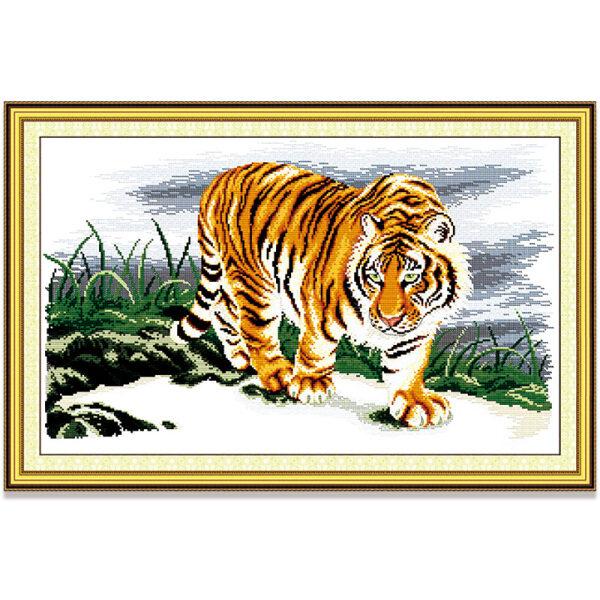 Tranh thêu chữ thập con hổ Thú vật DIY 14CT 11CT Cross Stitch Kit Tiger Design Animal Style