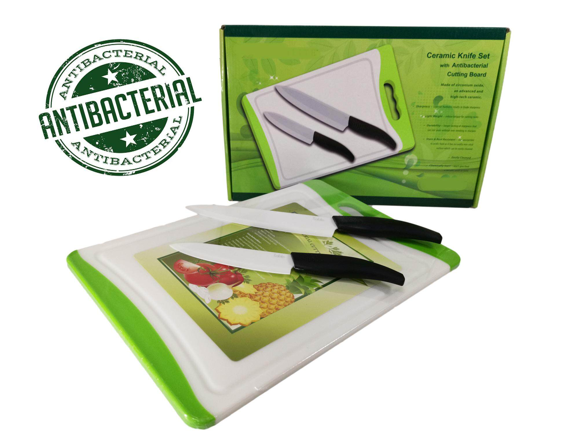 2 Pcs Ceramic Knife Set With Cutting Board By Blnk.