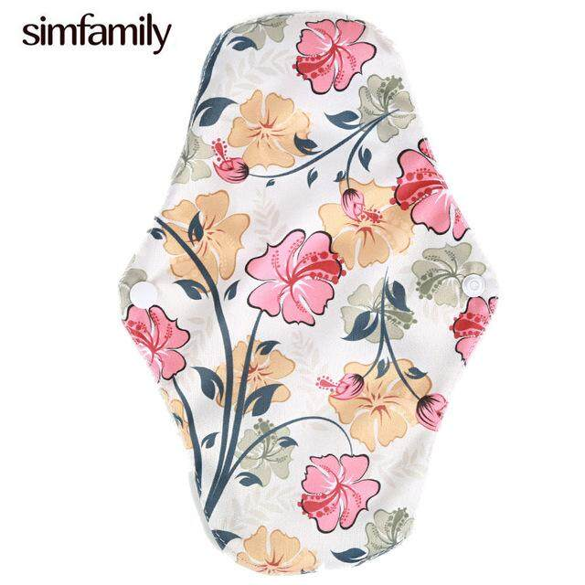 [simfamily]10pcs Reusable Waterproof Regular Flow Menstral Mama Cloth Pads Bamboo Charcoal Inside By Simfamily4u Store.