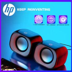 Loa Đa Phương Tiện HP DHS2111 Mini USB Âm Thanh Nổi Âm Thanh Ba Băng Tần Cân Bằng Cho Máy Tính Xách Tay Máy Tính Để Bàn TV Điện Thoại Di Động