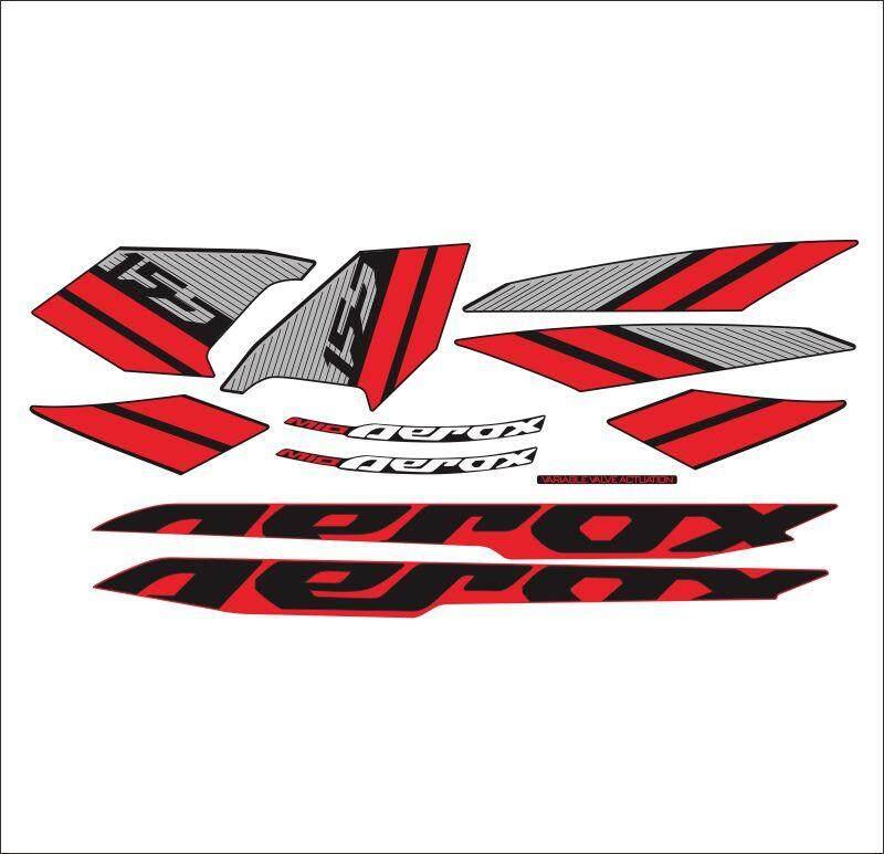 AEROX 155 2019 MODELO final Sticker decal Black red