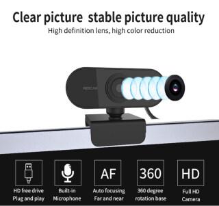 Webcam Lấy Nét Tự Động FHD Cho PC 1080P Tích Hợp Micro Giảm Tiếng Ồn Cuộc Gọi Video Cao Cấp Camera USB Web Cam Cho Máy Tính Xách Tay Máy Tính Để Bàn 2