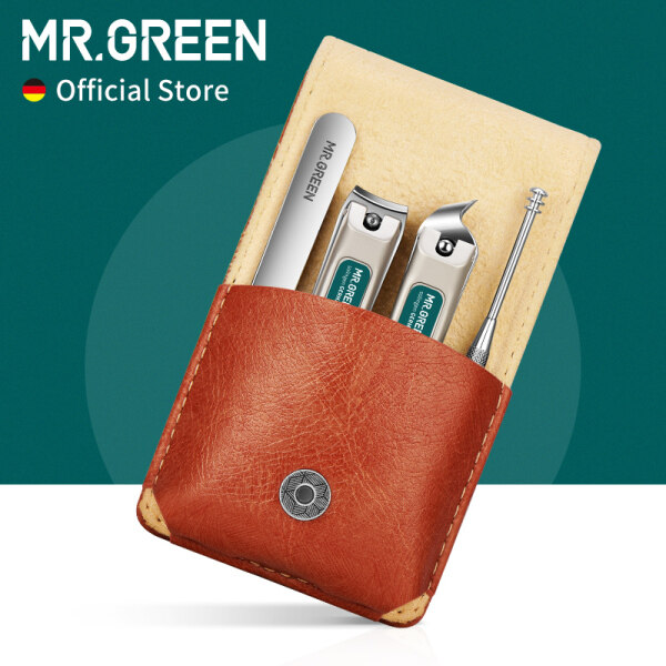 Buy MR.GREEN Portable Manicure Set Pedicure kit Stainless Steel Nail Clippers Tool Travel Grooming Case Gift Box For Friends Or Family Singapore