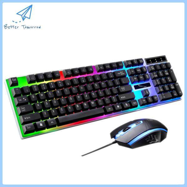 BETTER TOMORROW LED Gaming Mouse and Keyboard Combo Set ( ZG LEOPARD EXCLUSIVE DISTRIBUTOR ) Malaysia