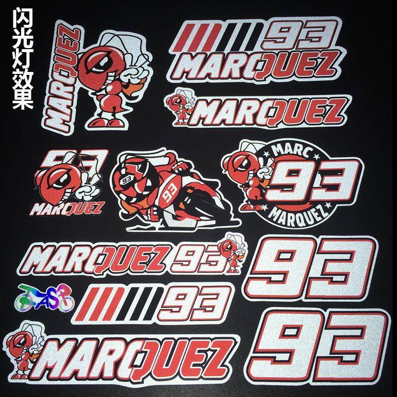 PVC Reflective Stickers #93 accessories Decals for Racing Motor helmet  Refrigerator notebook car styling
