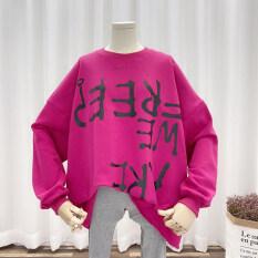 🌈Nhà Hàn Quốc 🌸 2020 Trang Phục Nữ Phiên Bản Hàn Quốc Mới Áo Khoác Ngoài Dài Tay Cổ Tròn Dáng Rộng Mùa Thu Áo Khoác Áo Len
