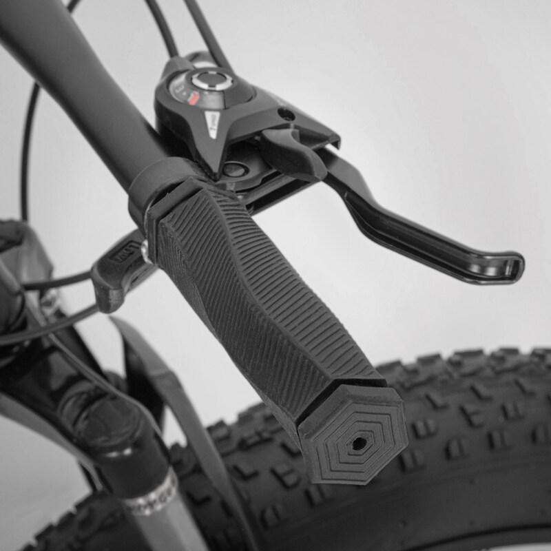MTB Bike Bicycle Cycling PU Leather Shockproof Grip anti-Slip Handlebar Grips