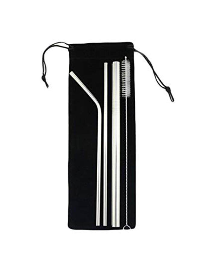 20x【4pcs Set】304 Stainless Steel Straw Group Ice Blaster Cup Stainless Steel Straw Drinking Straw Tea Straw Reusable Straw 4 Into Group Bag Set Straw By Laz Diy.