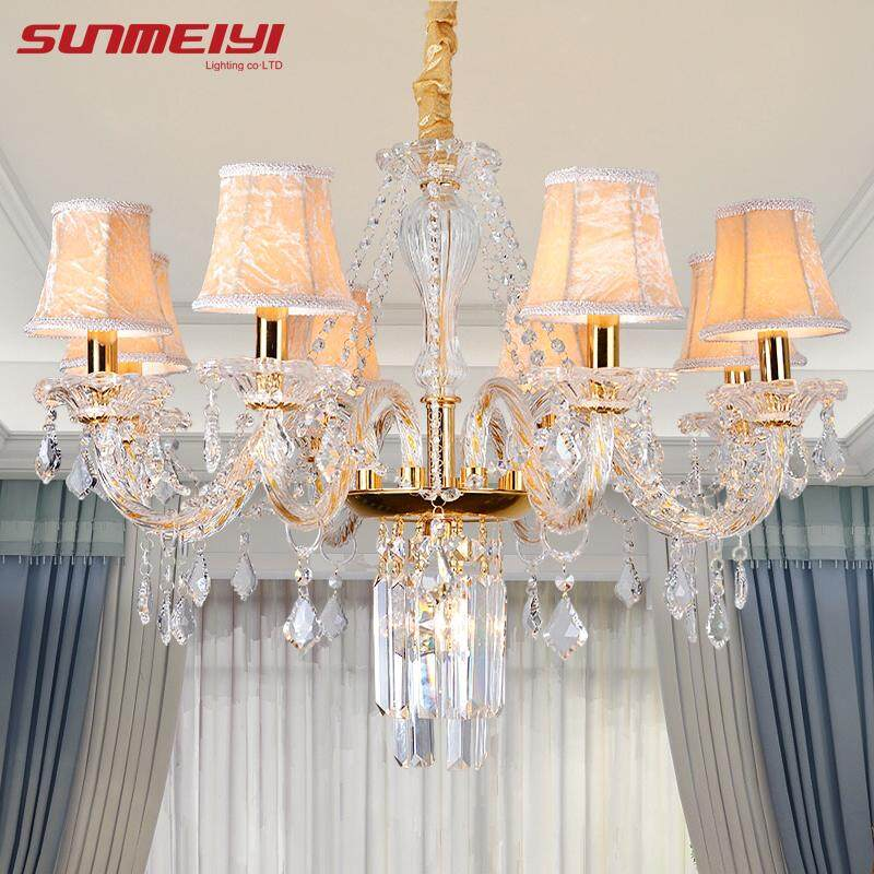 Modern Crystal Chandelier Lighting For Kitchen Bedroom Art deco LED Chandelier Ceiling Suspended Lamps candelabro de cristal