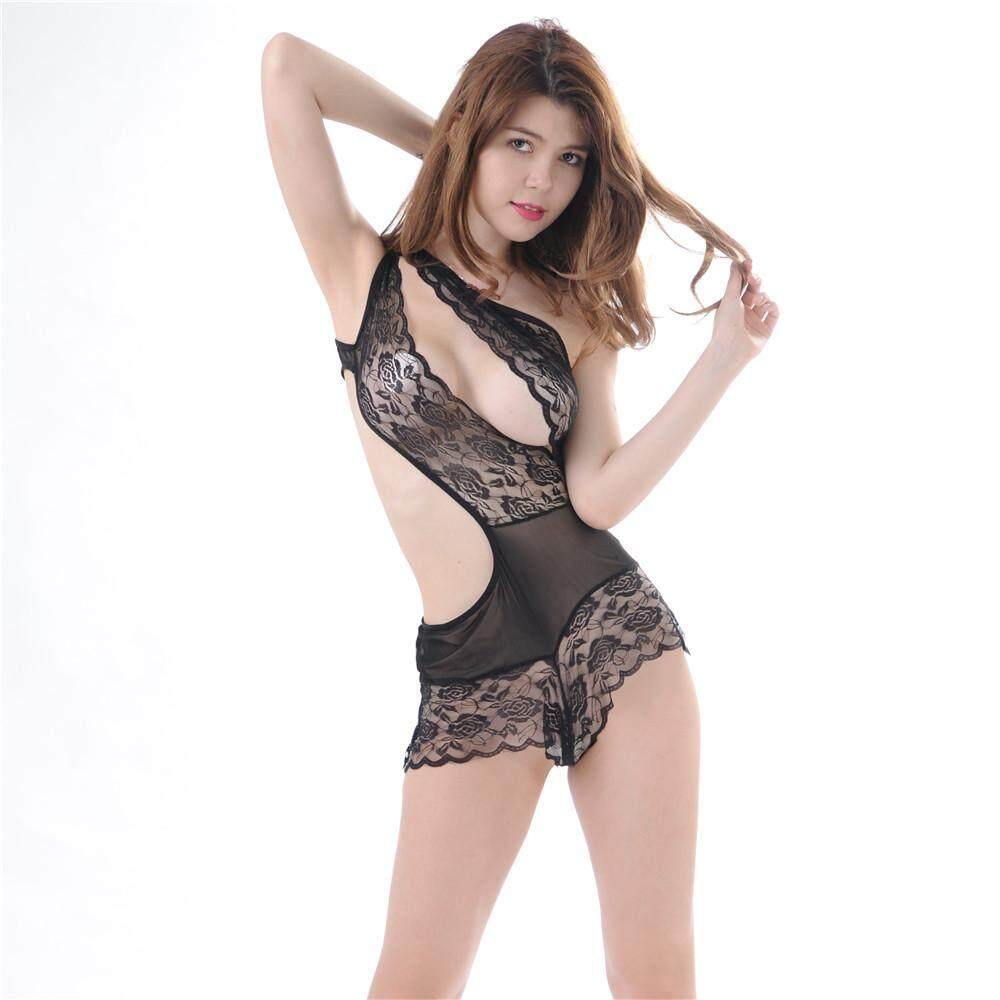 9d6fcb2f3b9 Women Sexy Lingerie Sexy Underwear Costumes Backless Sheer Teddy Lace One  Piece Babydoll Nightwear