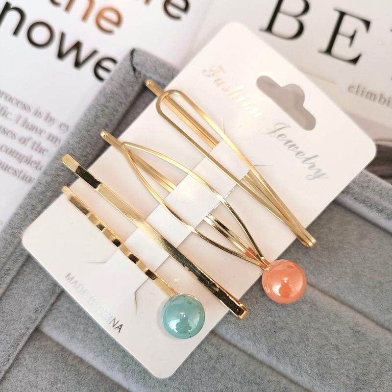 Apparel Accessories 2019 Latest Design Korean Style Imitiation Pearls Hair Clips For Women Cute Geometric Round Moon Bows Hairpins Barrettes Girls Hair Accessories