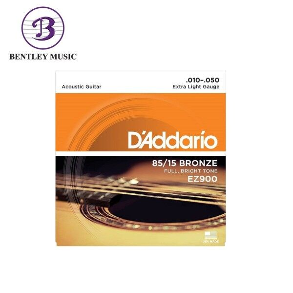 D'Addario EZ900 85/15 Bronze Acoustic Strings, Extra Light, 10-50 Malaysia