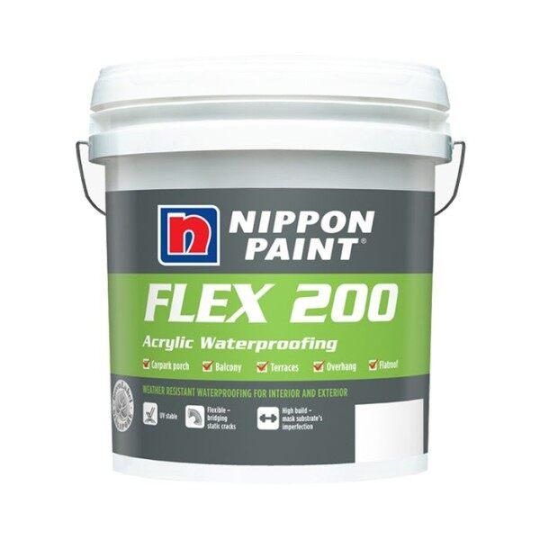 5KG NIPPON Paint FLEX 200 - WHITE / GREY / GREEN (ACRYLIC WATERPROOFING)