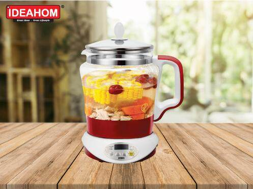 Ideahom Multi-function Glass Kettle ID-822 with Sirim approved