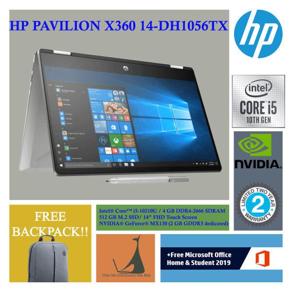 HP PAVILION X360 - 14-DH1056TX ( i5-10210U /4GB D4 /512GB SSD/ NV MX130 2GB / 14FHD/ W10 /SIL / PEN / Fingerprint / T-SCREEN ) Malaysia