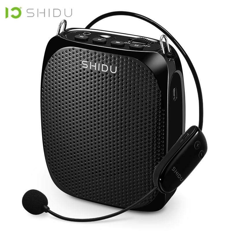 SHIDU Ultra Wireless Portable UHF Mini Audio Speaker USB Lautsprecher Voice Amplifier For Teaching Tour Guide Sales Conference Meeting Speech Teachers Tourrist Yoga Instructor S615