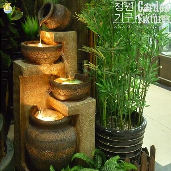 Rustic Terra Jar & Bowl Cascading Garden Fountain