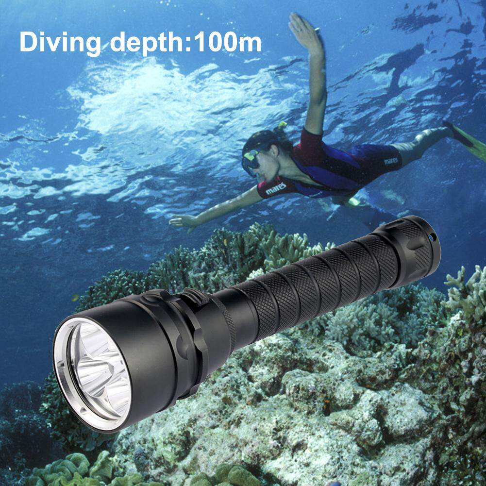 3000Lm XML L2 LED Waterproof 18650 Scuba Diving Flashlight 100M Underwater Diving torch