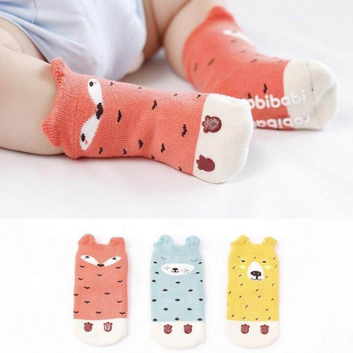 4243c92f3c0 3 pairs lot Super thick cartoon children socks newborn baby towel socks  three-dimensional