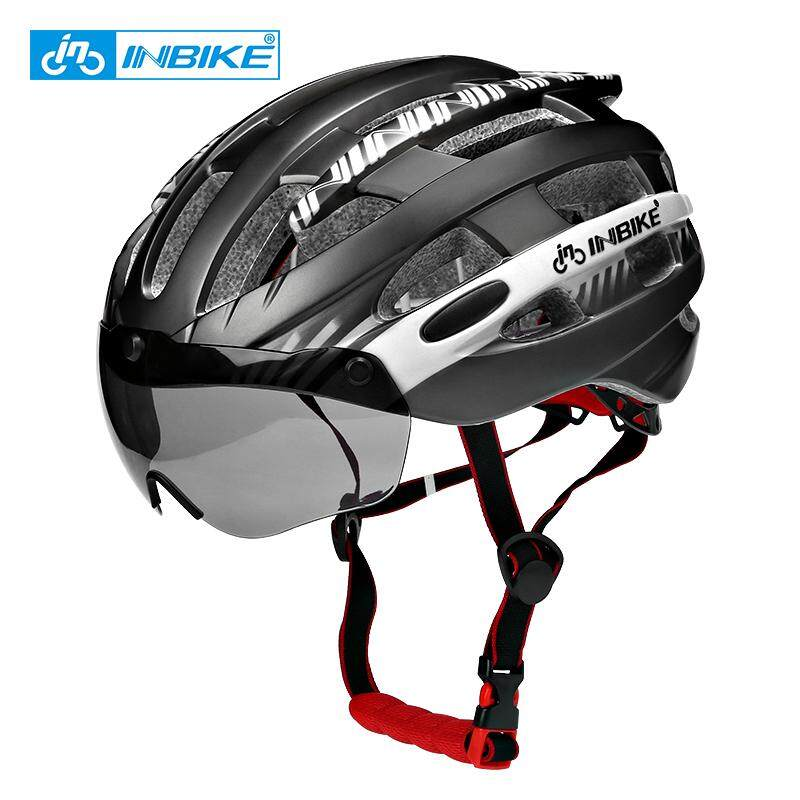 Mua INBIKE Mũ Bảo Hiểm Siêu Nhẹ Mũ Nón Bảo Hiểm Xe Đạp Nam Đường Núi Nữ MTB Chống Gió Kính Nón Bảo Hiểm Xe Đạp MX-3