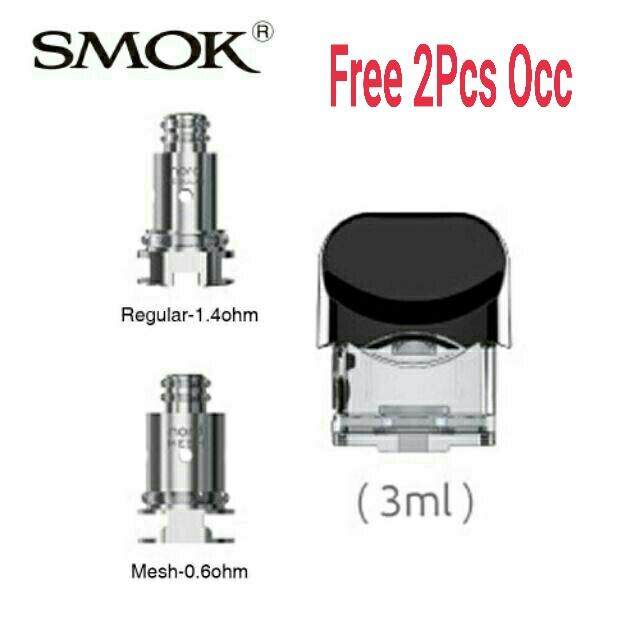 100% Original Smok Nord Replacement Pod 3ml With 0.6ohm/1.4ohm Coil Head For Smok Nord Vape By Bestmarket.
