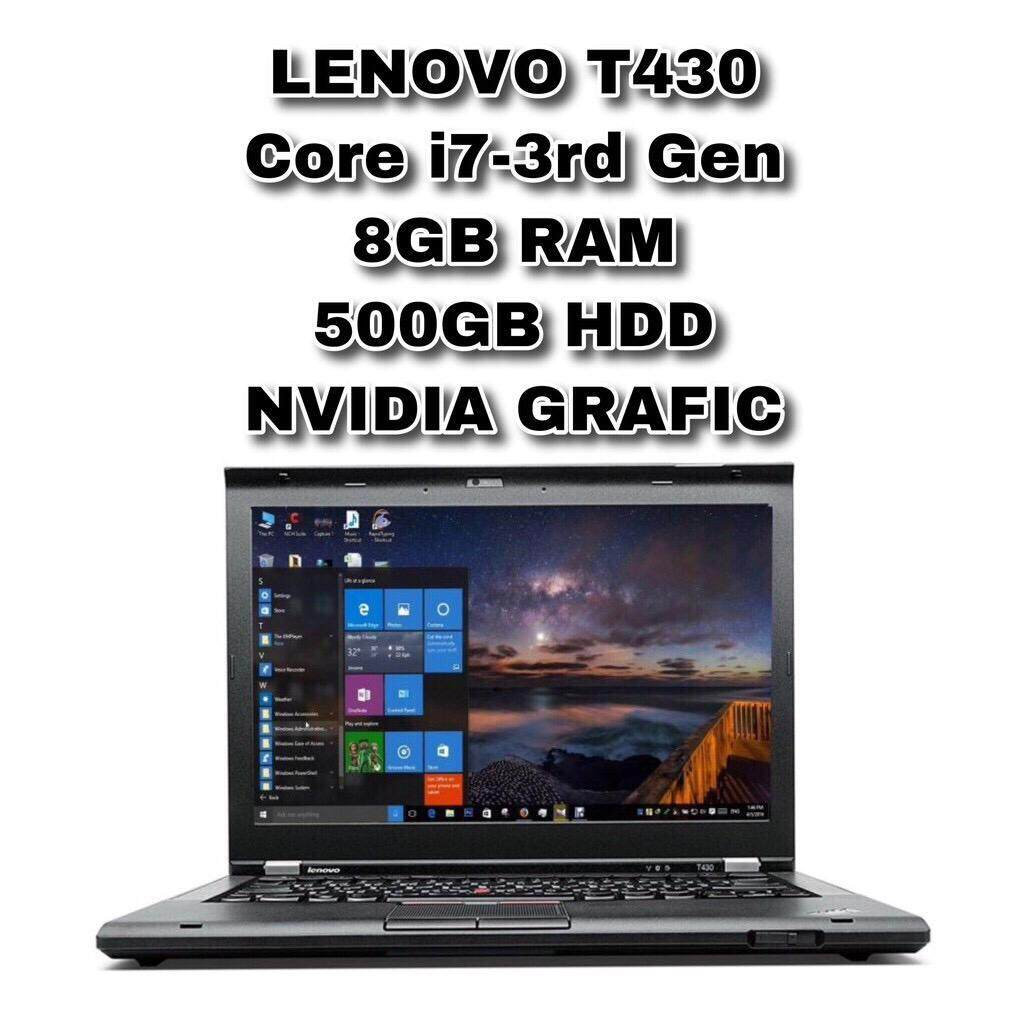 LENOVO T430 Core i7-3rd Gen 8GB RAM 500GB HDD NVIDIA GRAFIC 14inch Malaysia