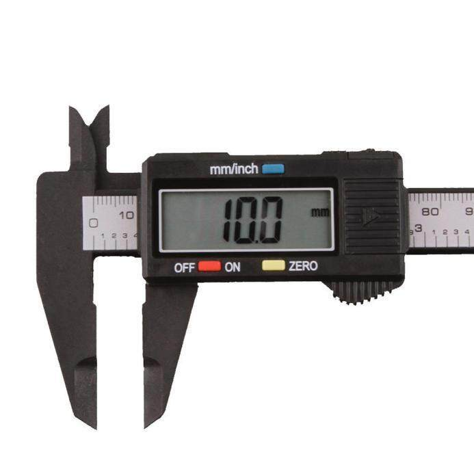 [Malaysia Stock] 150mm/6inch LCD Digital Electronic Carbon Fiber Vernier Caliper Gauge Micrometer