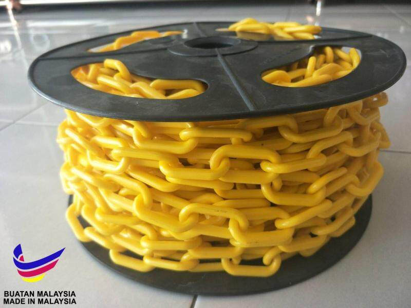 (Promotion) Plastic Chain 6 mm x 20 meter - YELLOW