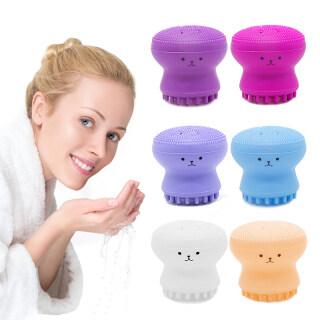 Dụng cụ làm sạch da mặt hình BẠCH TUỘC bằng Silicone giúp tẩy tế bào chết và chăm sóc da thiết kế nhỏ gọn tiện dụng nhiều màu sắc rực rỡ - INTL thumbnail