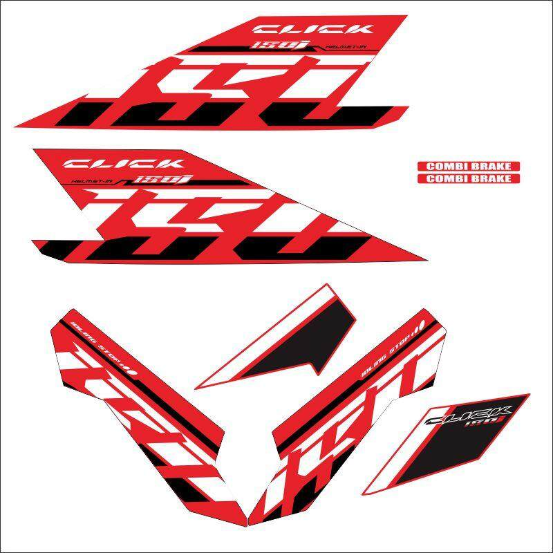 CLICK 150 2018 MODEL Sticker decal red