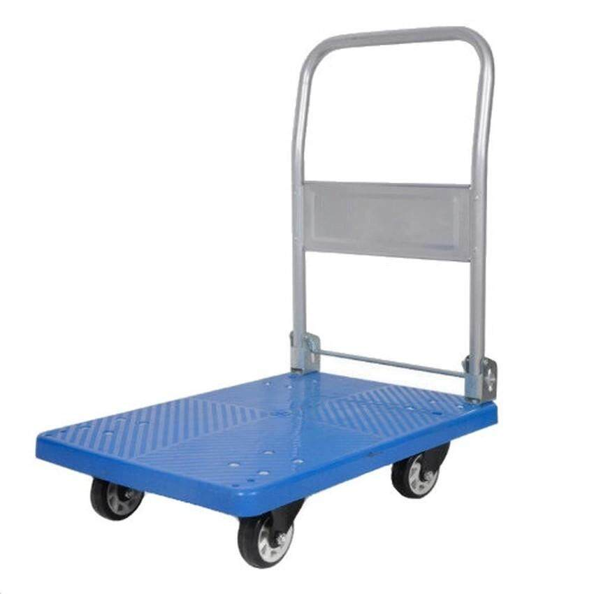 STOCK PHT-300 PVC Hand Truck Foldable Handle 300KG (Max. Load) with 5 Pressed Rubber Wheel
