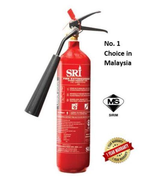 SRI Fire Extinguisher 2KG CO2 Class BC & Electrical Hazards