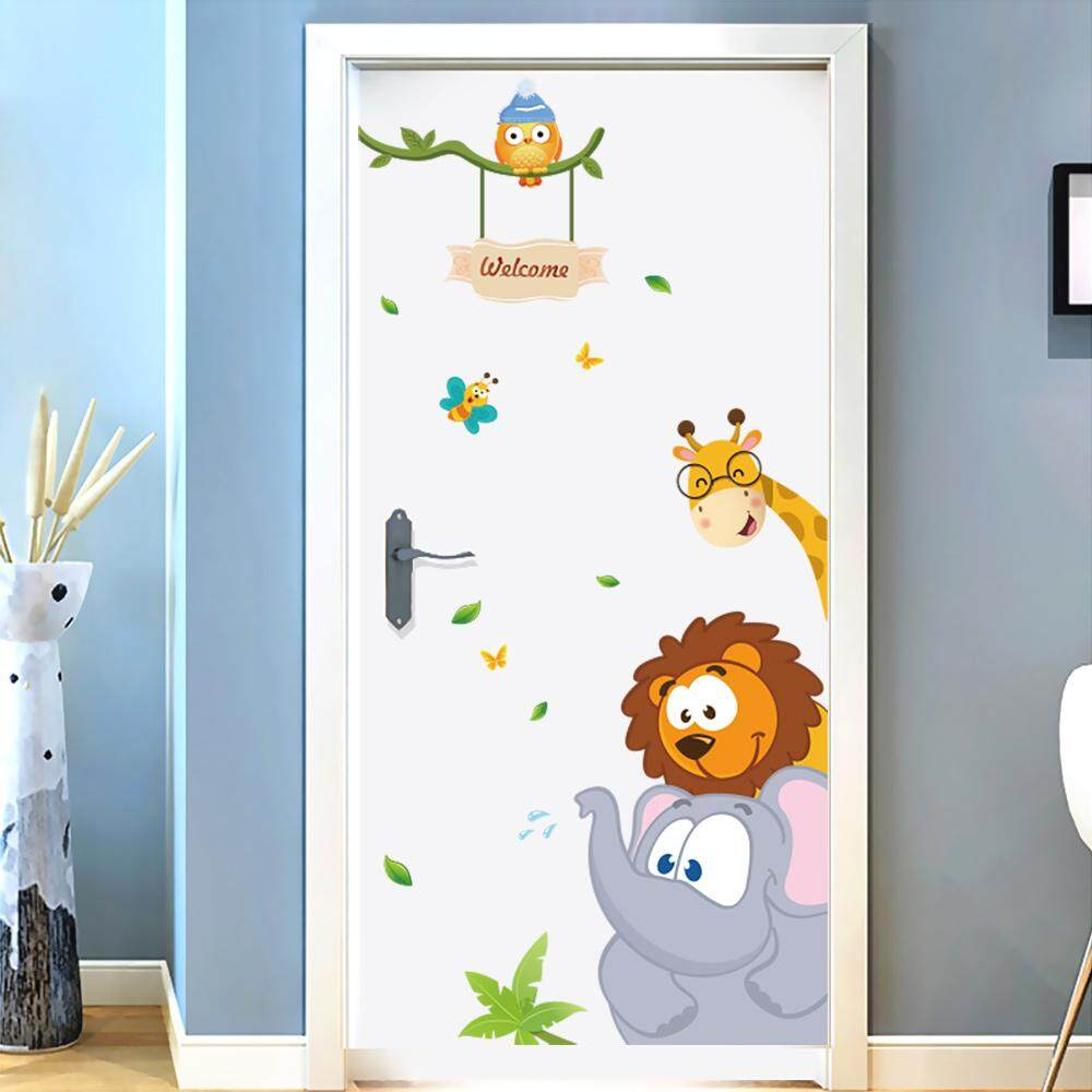 2d299715d Cute Forest Animals Wall Sticker For Children s Gifts Vinyl Art Decals  Kids  Bedroom Home