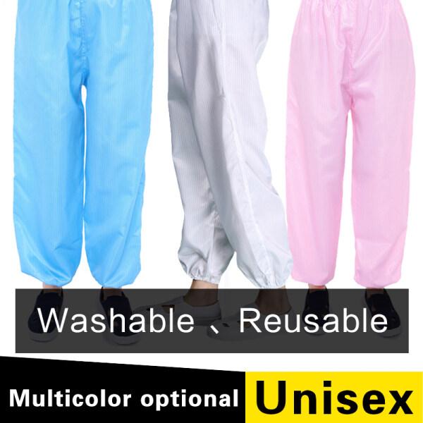 ESD Pants Anti-static Pants Dustproof Work Pants Blue White Pink Yellow Unisex Labor Insurance Pants Cleanroom