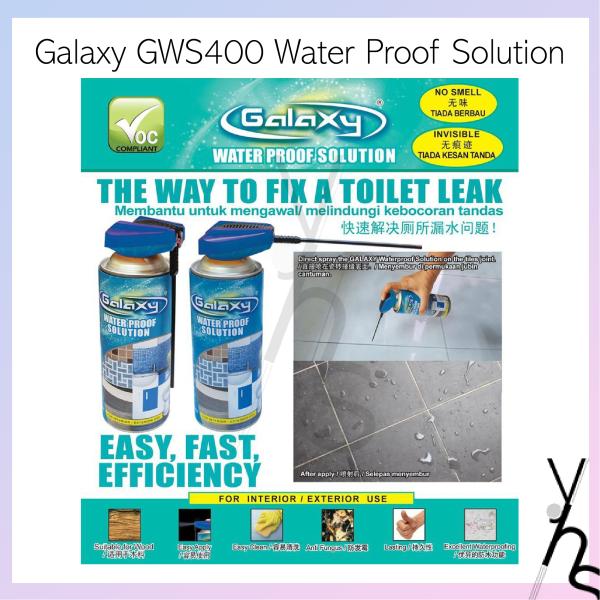 Galaxy GWS400 Toilet Leak Seal Water Proof Solution Odourless Waterproofing Segel Kebocoran Tandas 400ml